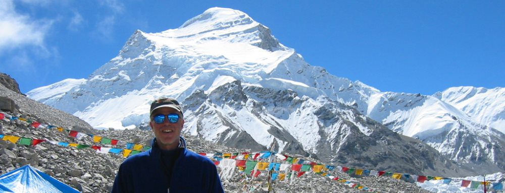 Tom Dougherty at Cho Oyu Base Camp