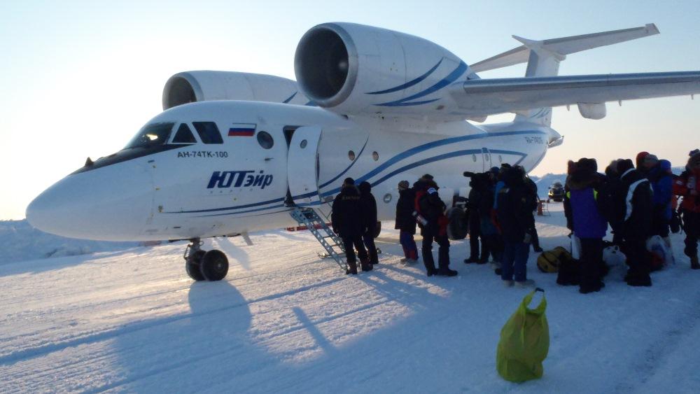 Antonov on the ice at Barneo