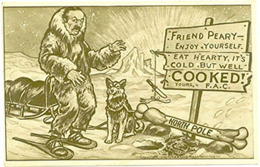 1909 postcard lampoons Peary