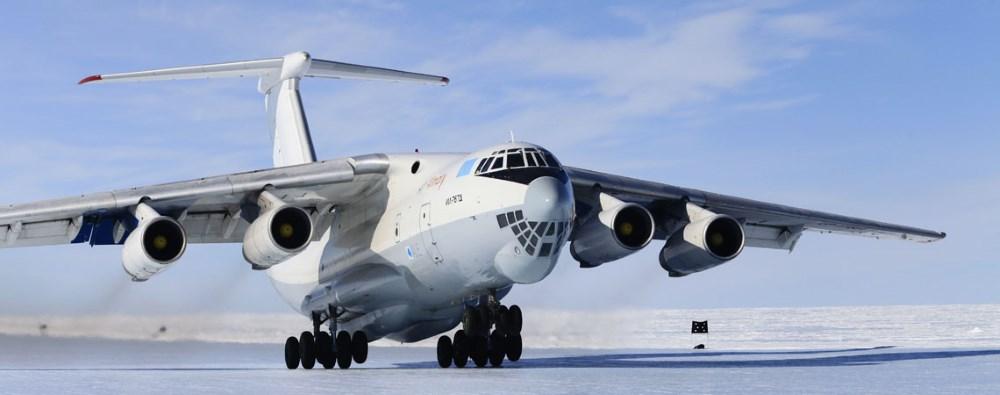 Our Ilyushin IL-76 on the ice