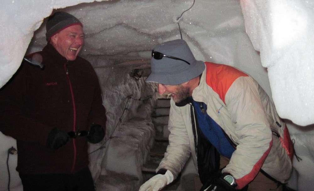 Stephan and Rob in ice cave
