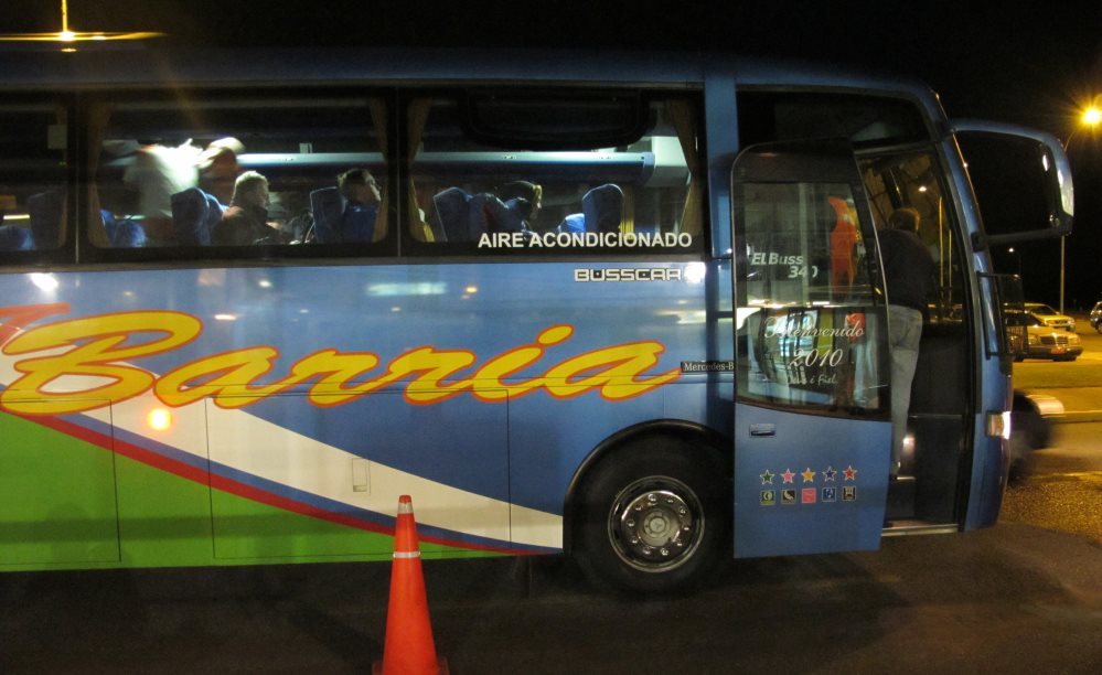 Bus at Punta Arenas airport