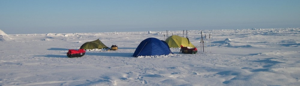 Camp on sea ice