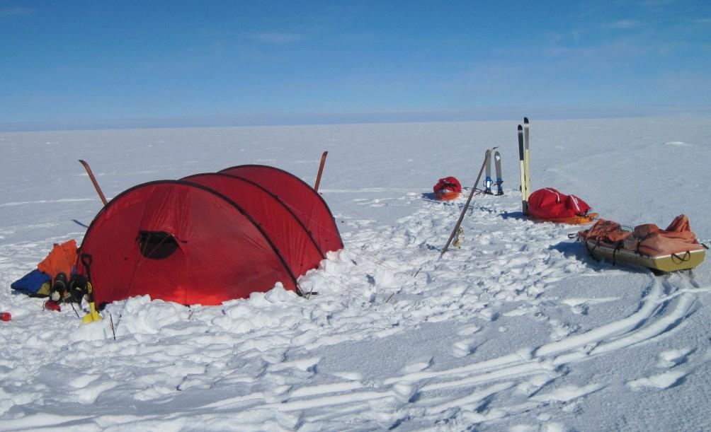 Campsite near South Pole