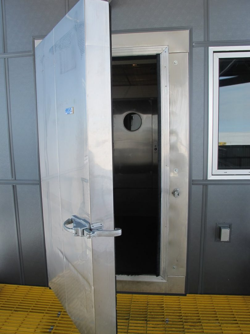 Freezer door at South Pole Station
