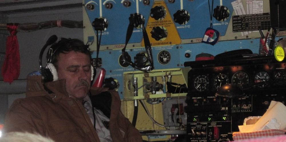 aboard Ilyushin jet