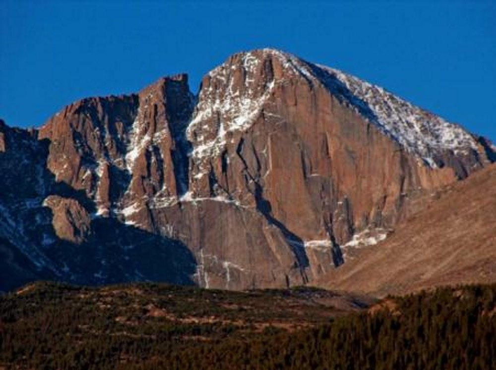 "Longs Peak…view of the ""Diamond"""