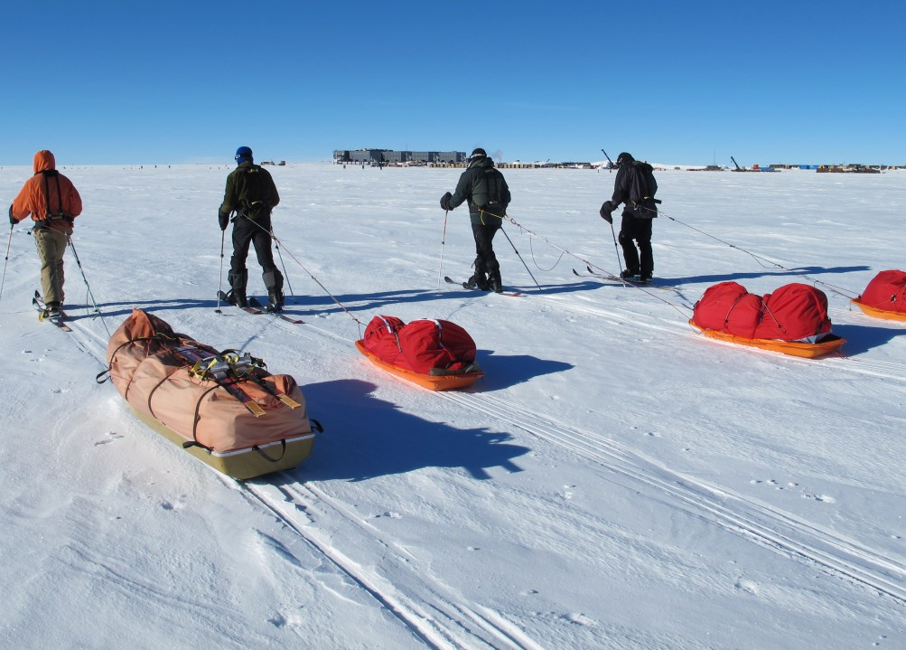 Approaching South Pole Station