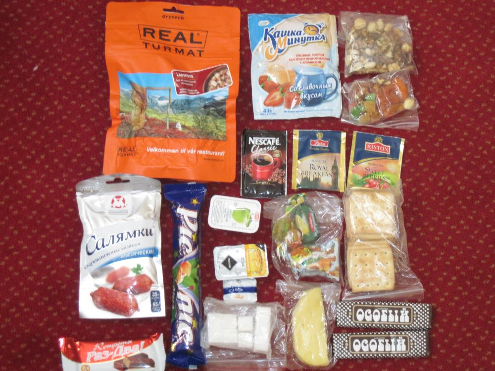 Contents of a daily rations pack