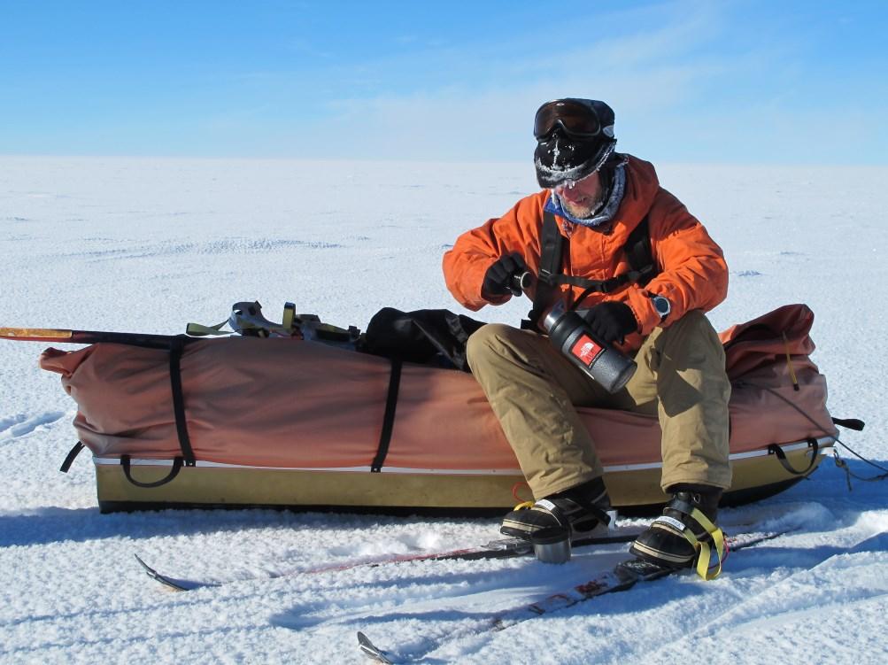 Sledging on Polar Plateau