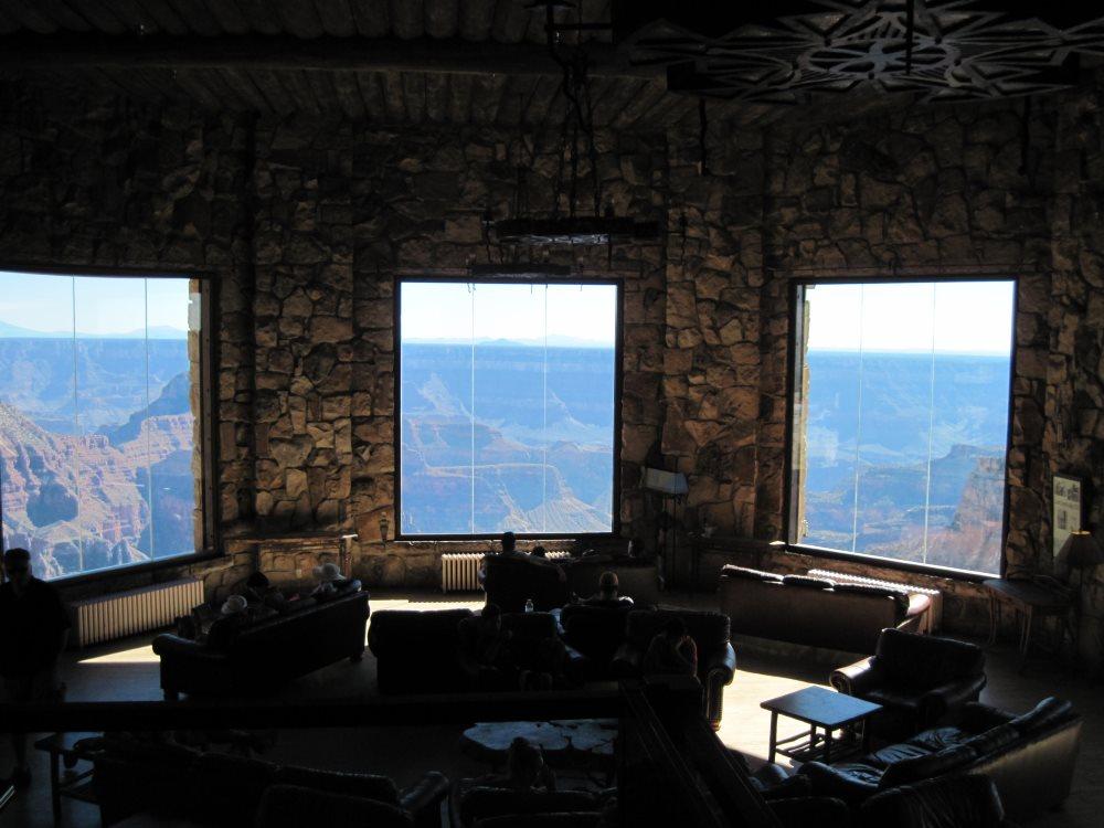 Sun room at Grand Canyon Lodge- North Rim