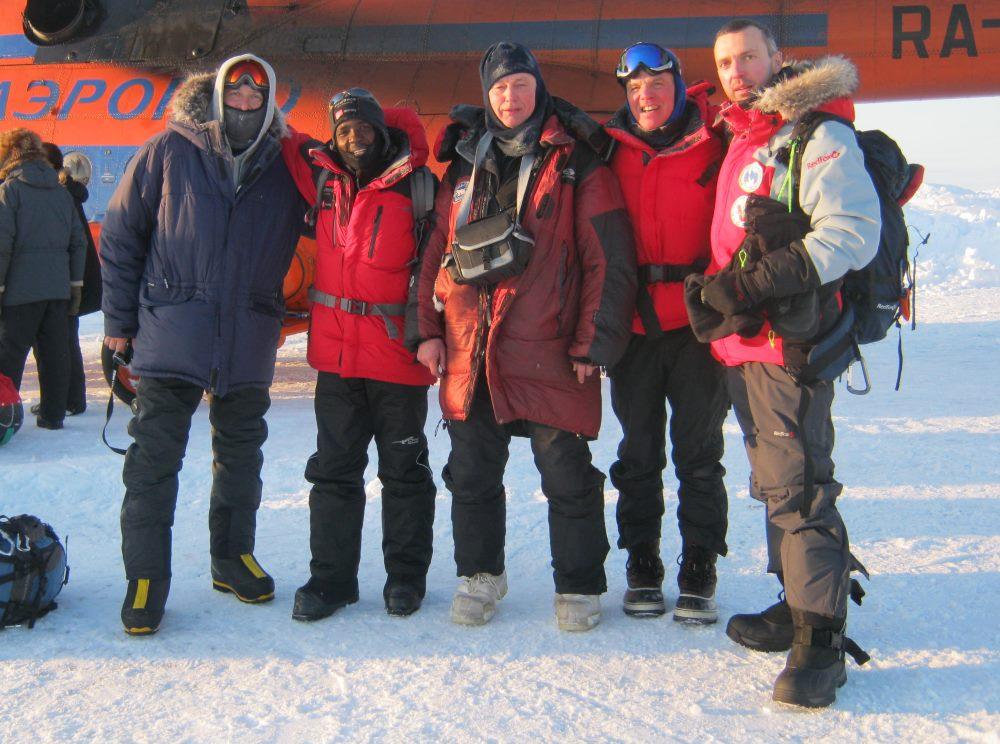 Sasha, Sibu, Miroslav, Tom and Roman about to depart