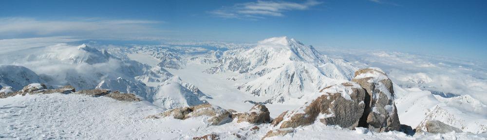 View from Denali 16k ridge