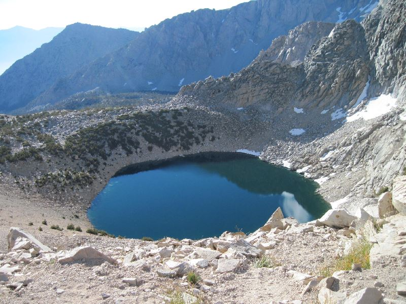Big Pothole Lake on Kearsarge Pass Trail