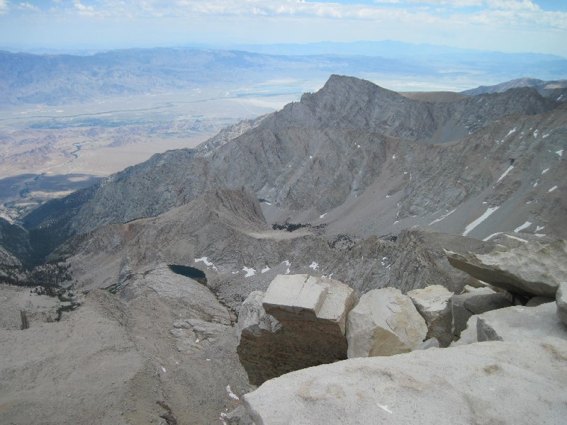 View east from Mt Whitney Summit