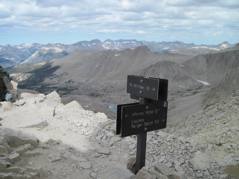 Mt Whitney Trail Junction with John Muir Trail
