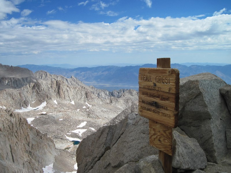 View from Trail Crest on the Mt Whitney Trail