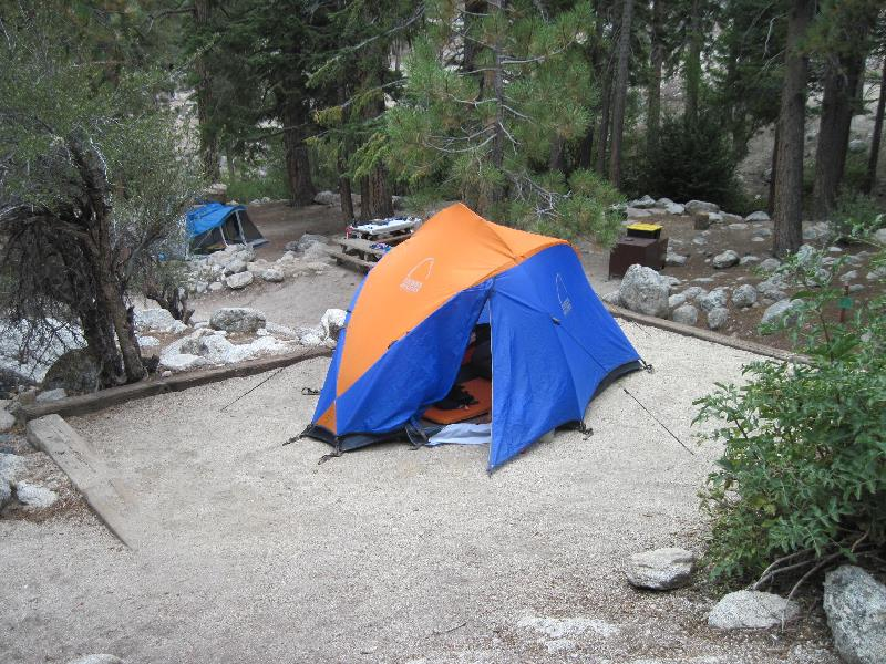 campsite at Whitney Portal
