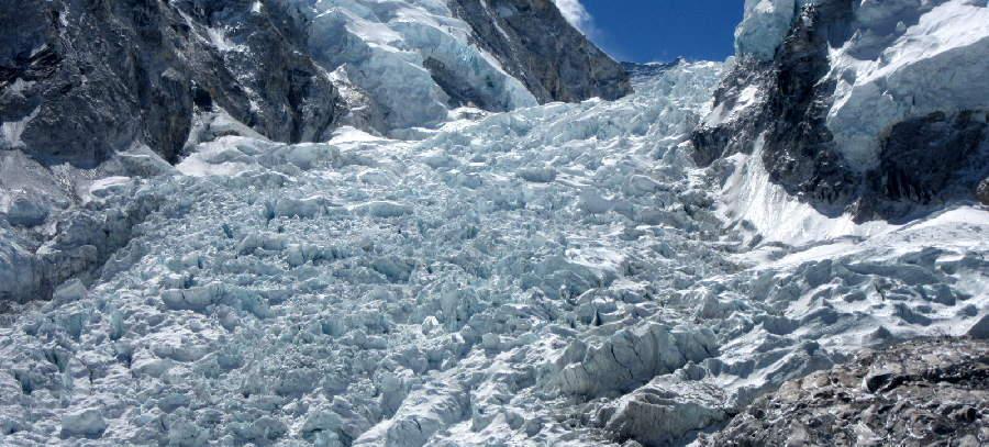 Frightening Khumbu Icefall