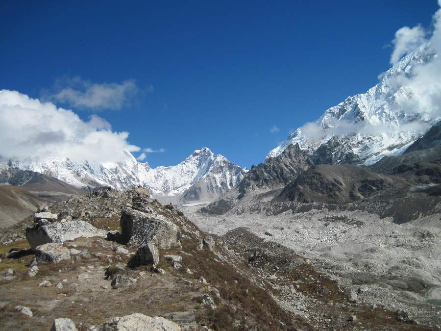 Khumbu Glacier seen from moraine