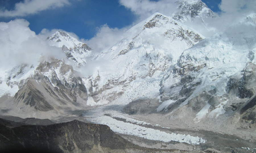 Khumbu Icefall as seen from Kala Patar