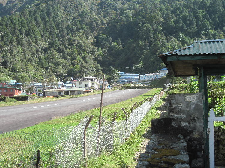 end of Lukla Airport