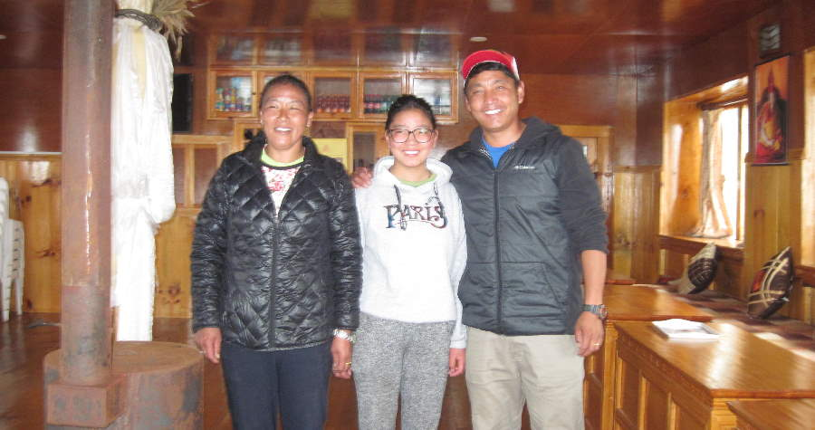 Tsering and Family at Mandala Home Teahouse