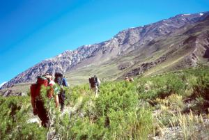 On trail to Casa de Piedra